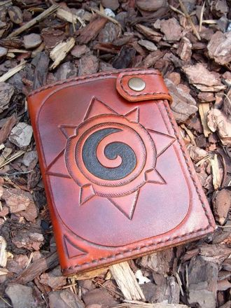 Hearthstone Leather Card Wallet, игра Hearthstone, рубашка Доната